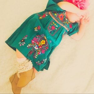 Mexico Dress Baby Embroidered